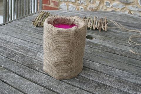 Этапы изготовления горшочка из веток