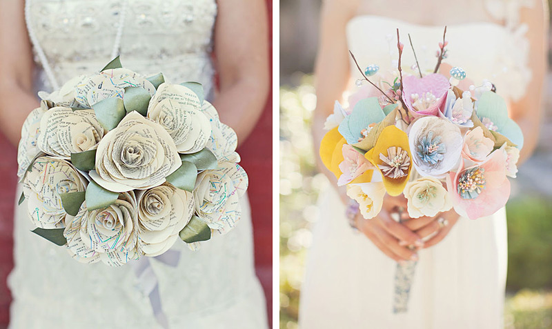 Как сделать букет цветов из бумаги на свадьбу