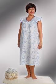 ночная сорочка из ситца свободного покроя