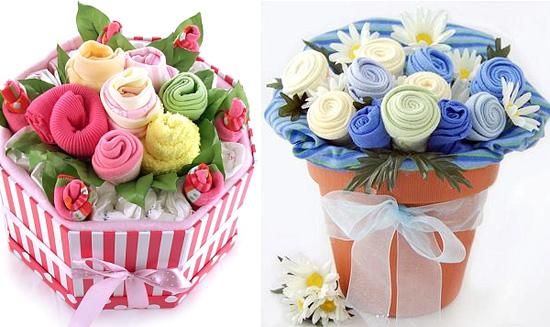 Цветы из полотенец