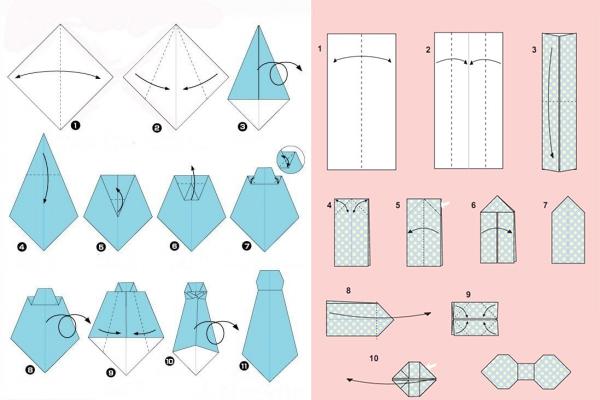 Как сделать из бумаги рубашку открытку из бумаги