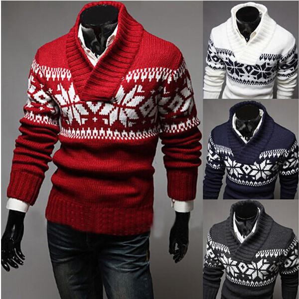 Вязаный свитер для супруга