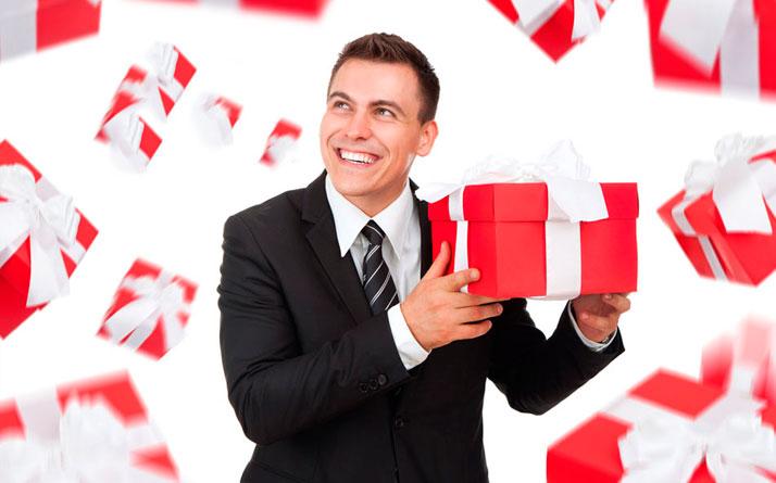 Мужчина с подарками