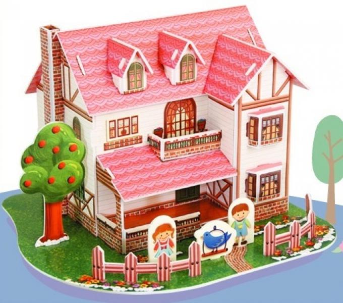 Бумажный дом из пазлов