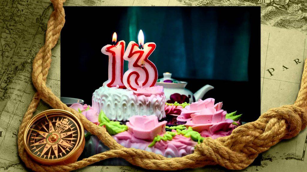 Открытки 13 лет день рождения мальчику, днем рождения