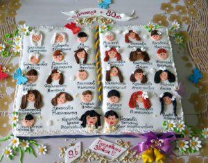 Учителю можно подарить торт, украшенный специально к празднику