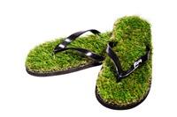 Шлёпанцы из травы