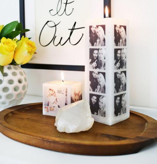 Фотоколлаж-свеча