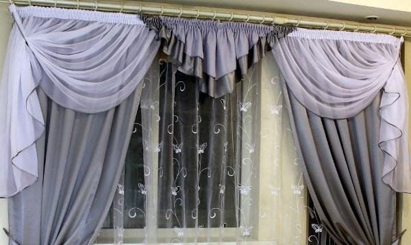 шторы из крепа