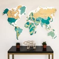 Карта мира из ПВХ