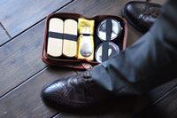 Винтажный набор для чистки обуви
