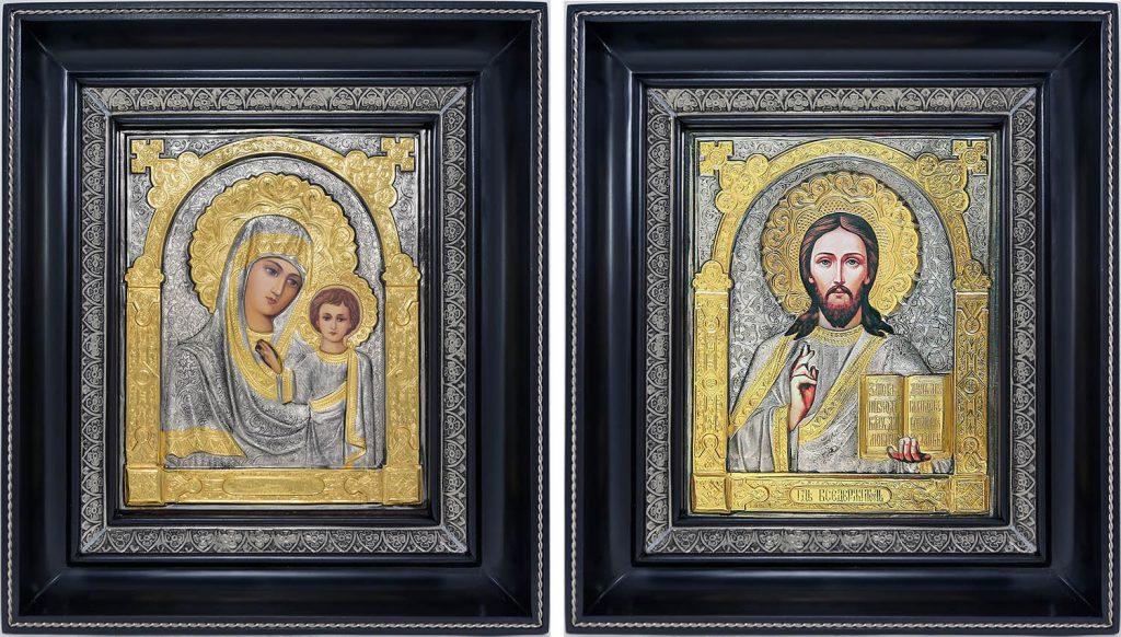 Образы Иисуса Христа и Пресвятой Богородицы