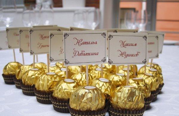 Подарки гостям от юбиляра