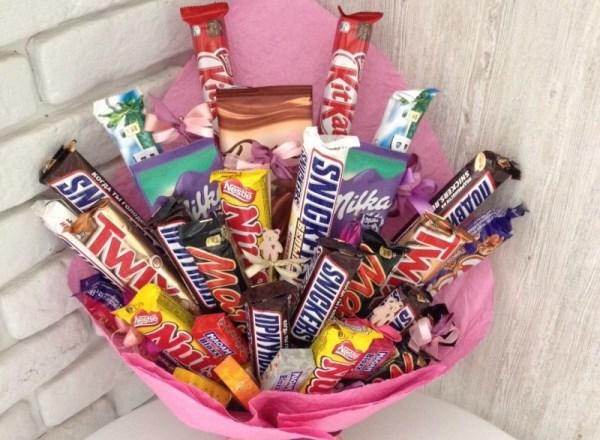 букет из шоколадок