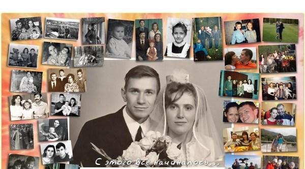фотоколлаж семьи