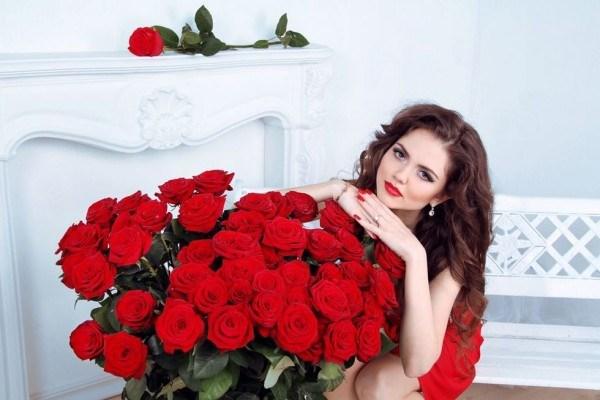 крассные розы
