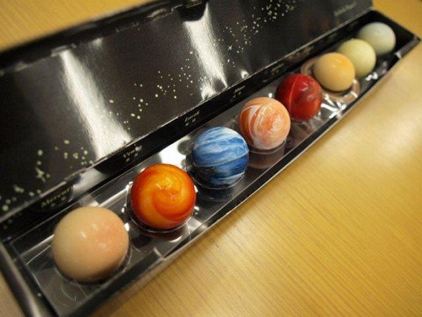 конфеты в виде планет