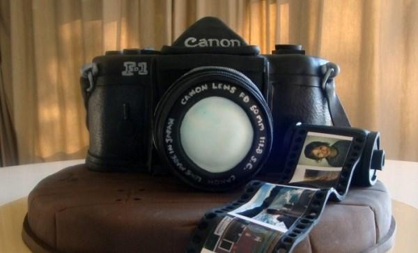 торт - фотоаппарат