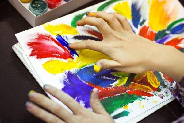 рисунок пальчиками
