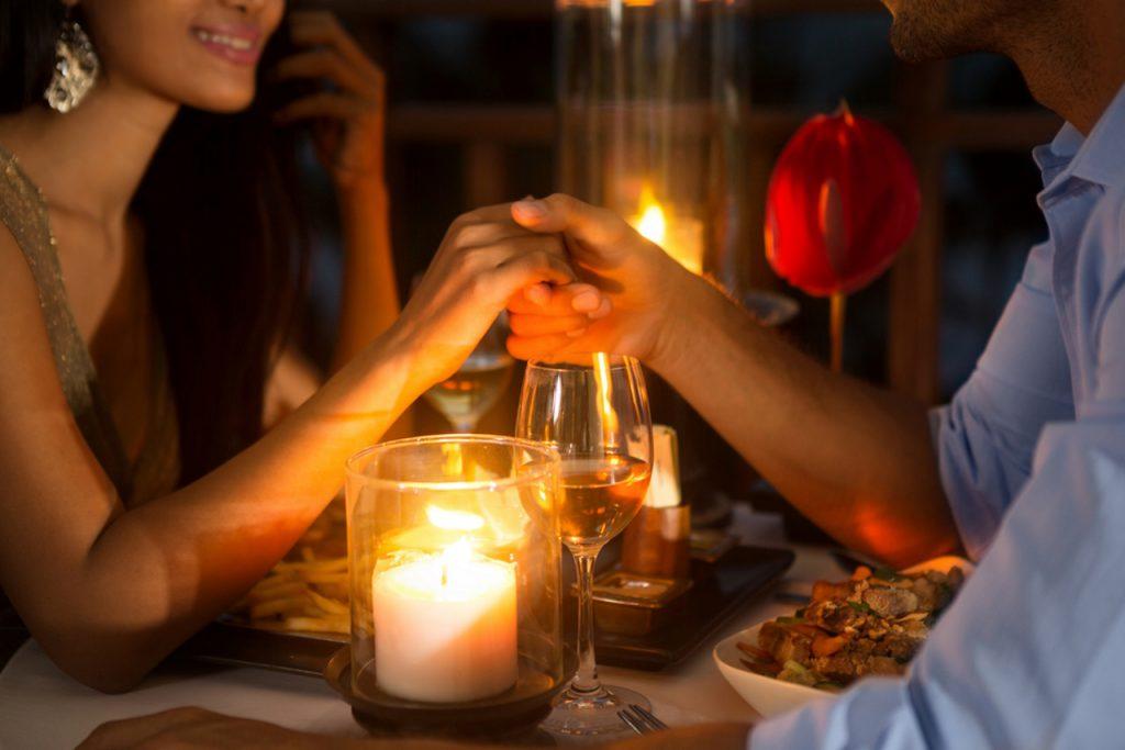 романтика ужин