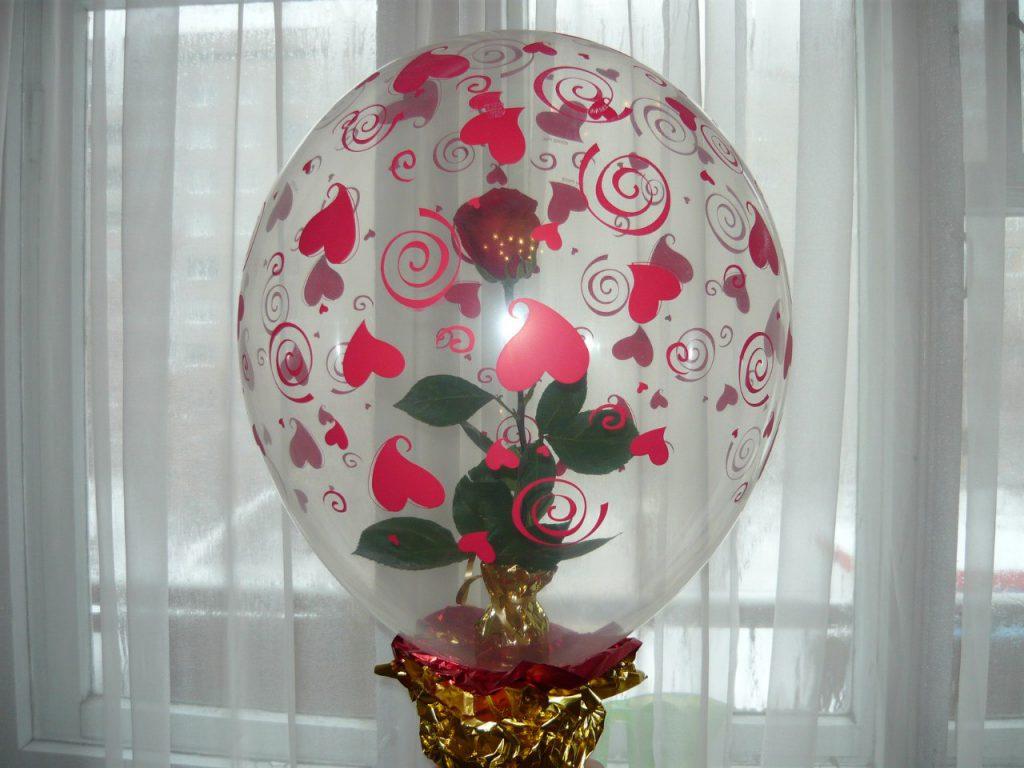 роза в шаре