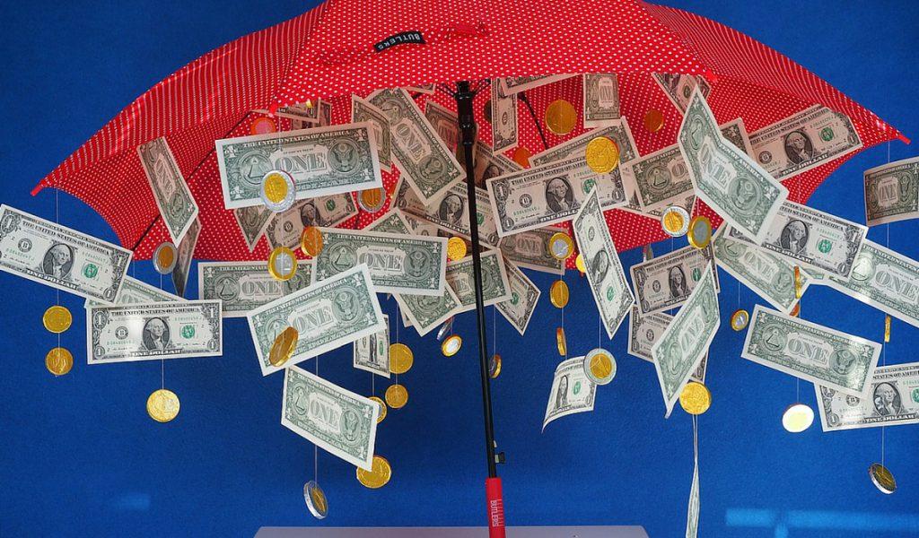Денежный зонтик