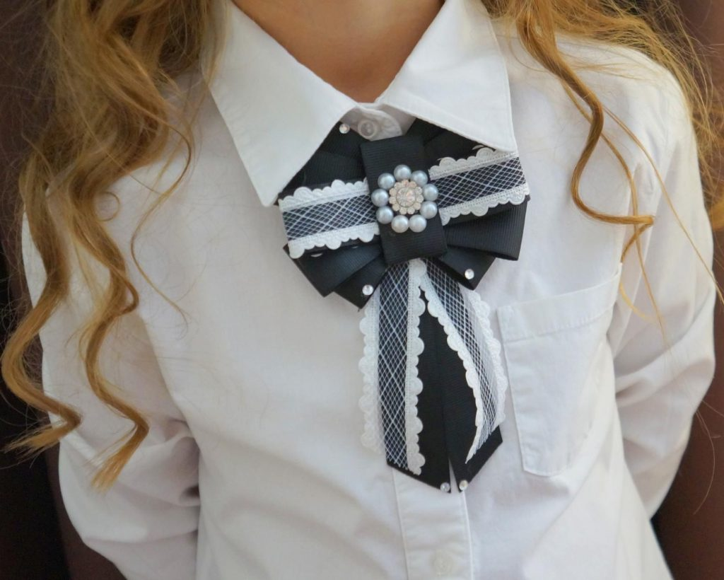 галстук девочкам