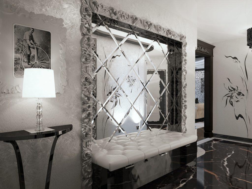 настенное рифленое зеркало