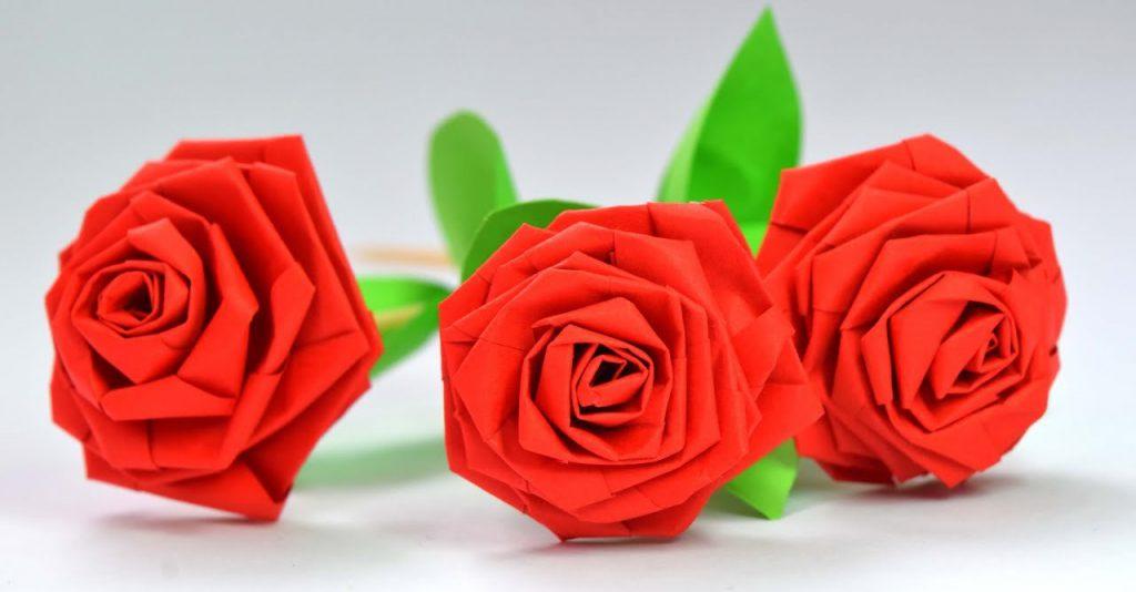 Красивые цветы-оригами