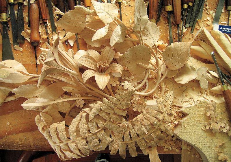 Оригинальный букет цветов из дерев