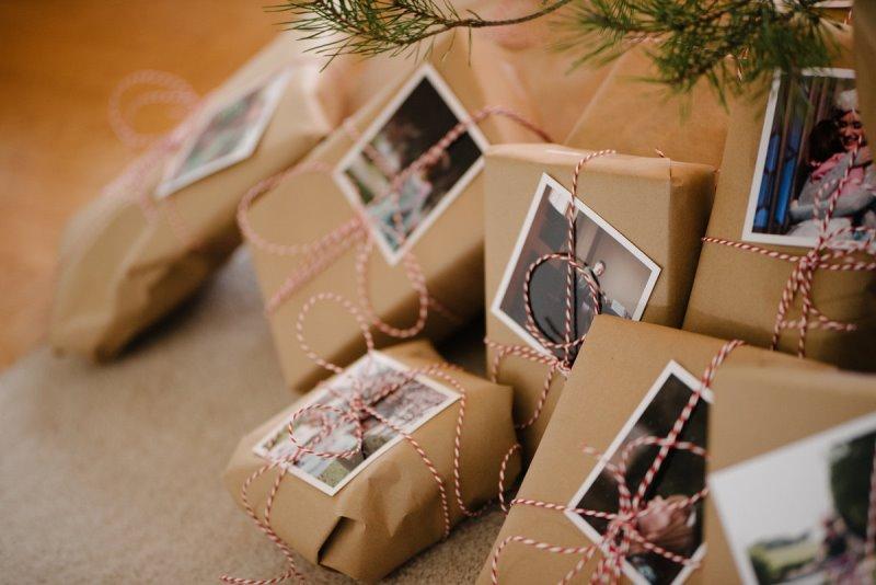 Фото на упаковке подарка