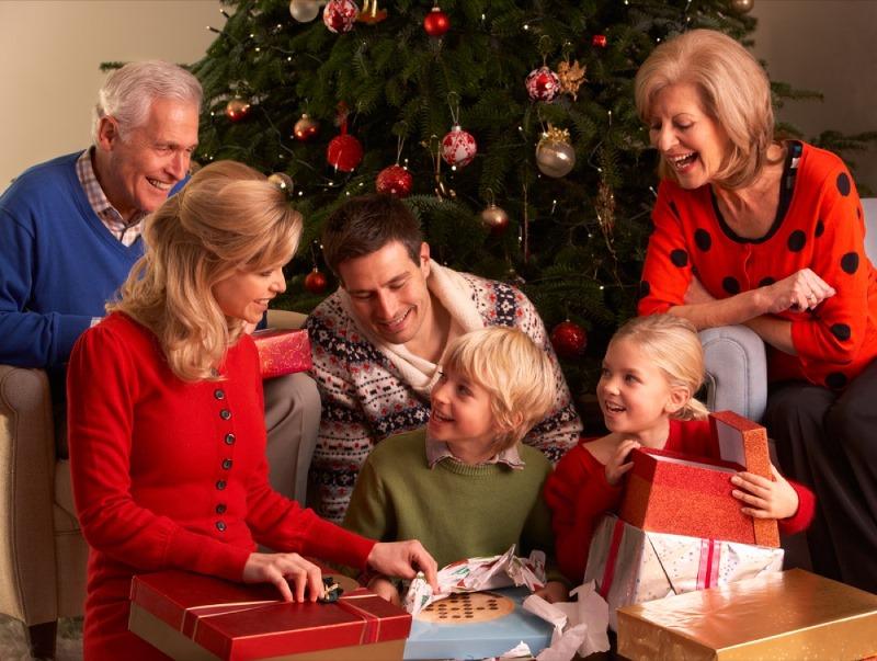 Фотосессия с семьей на Новый год