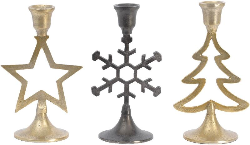 Подсвечники для украшения новогоднего стола