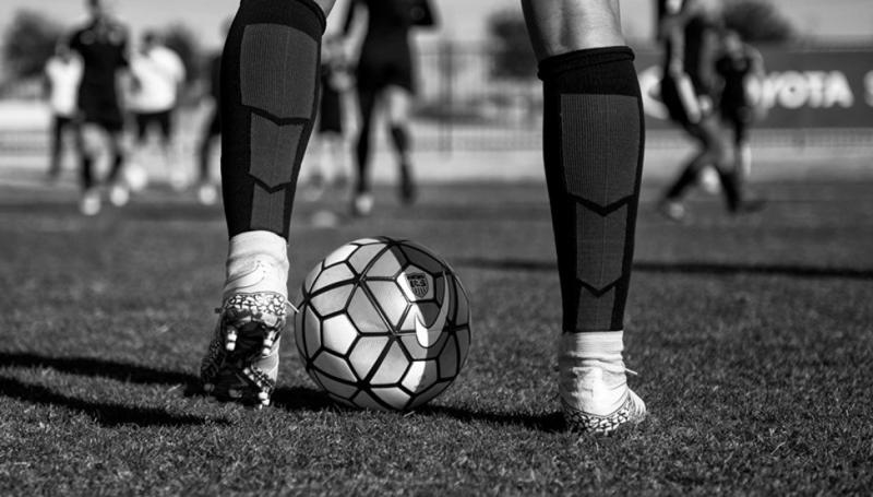Фотосессия в футбольном стиле