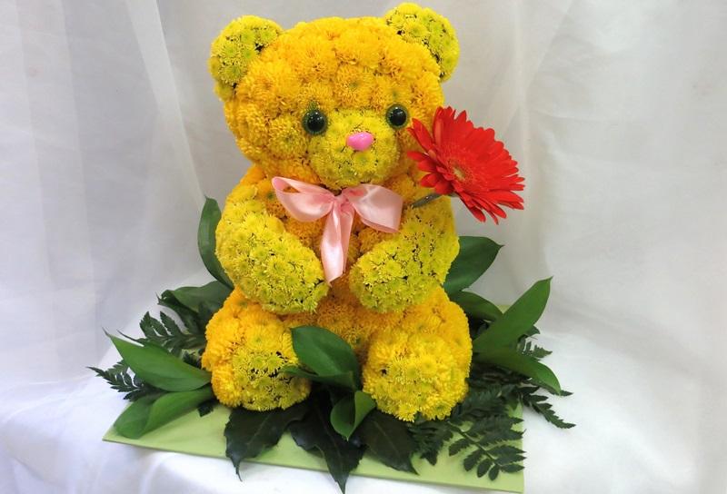 Мишка из цветов