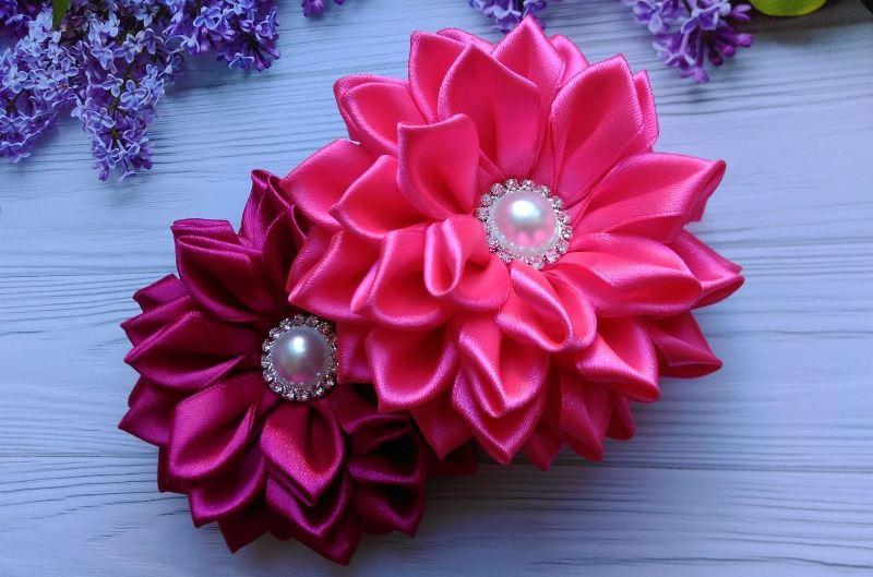 Цветы в технике канзаши
