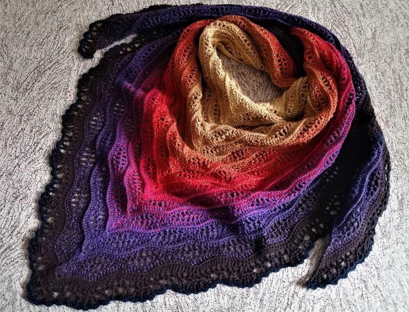 Разноцветная шаль