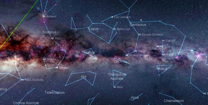 Карта позволяет изучить все созвездия
