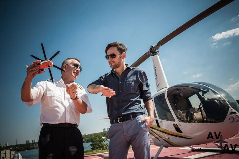 Учебный полет на вертолете